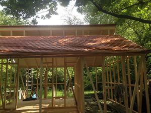 Individuelles Gartenhaus Aufbau