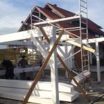 Carport-Aufbau