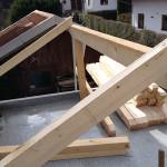 Garagendach Dachstuhl