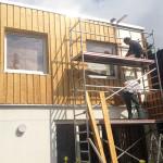 Holzfassadenmontage